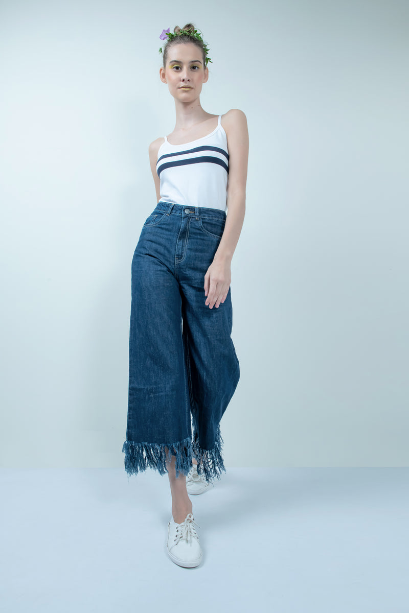 eco-friendly mid blue denim flared jeans - FREAKINS