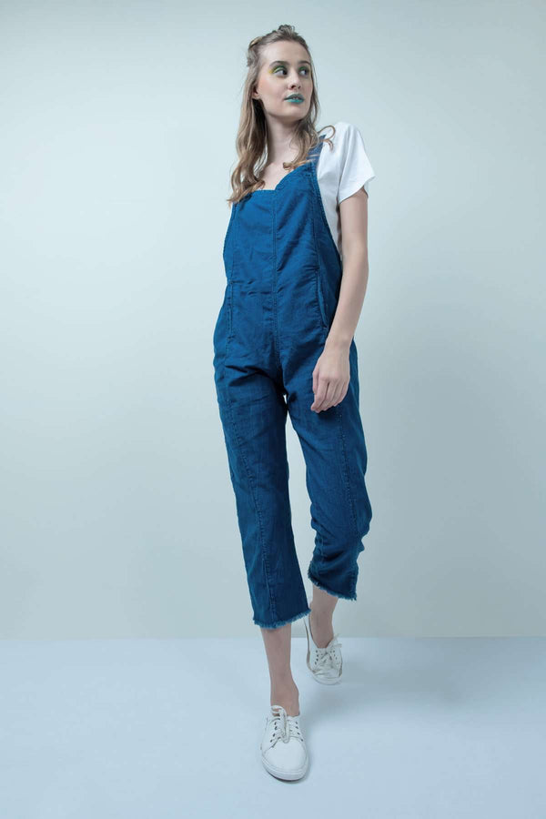 ECO-FRIENDLYxSTM DARK BLUE DENIM JUMPSUIT - FREAKINS