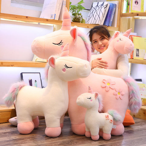 Kawaii Unicorn Rainbow Tail Plush Toy - juwas.com online store