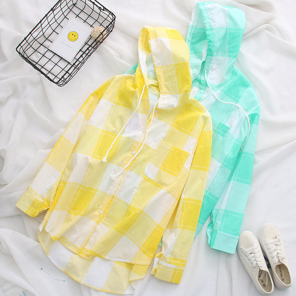 Candy Color Sunscreen Sleeves Hoodie - juwas.com online store