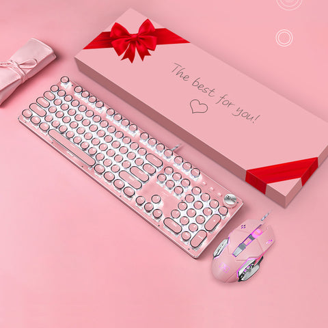 Kawaii Punk Gaming Wired Mechanical Keyboard For Mac, Windows