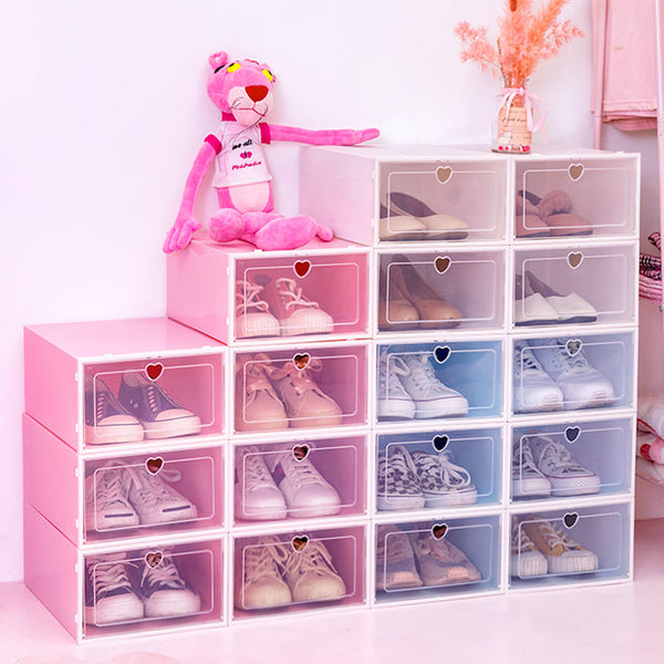 Clear Shoes Storage Box Organizer