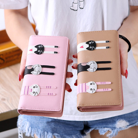 Kittens Design Long Wallet Purse