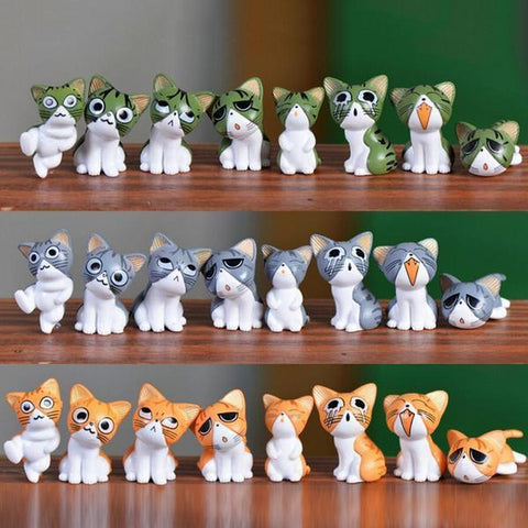 8PC MINIATURE CAT HOME DECOR - juwas.com online store