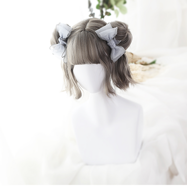 HARAJUKU LOLITA WIG WITH TWO SMALL BUN - juwas.com online store