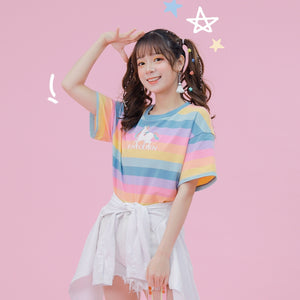 Pastel Rainbow Color Unicorn T-shirt