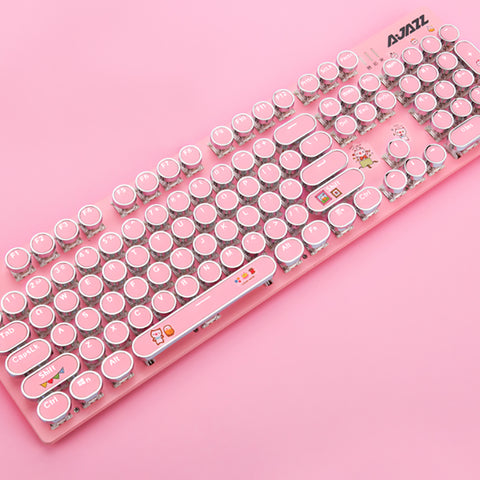Pink Gaming Wired Mechanical Keyboard