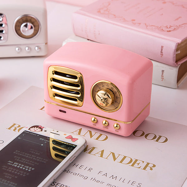 Retro Radio design rechargeable Bluetooth Speaker - juwas.com online store