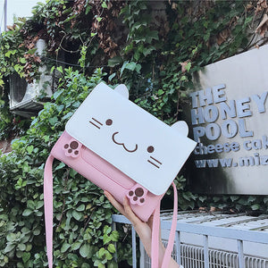 Kawaii Kitty Cat Shoulder Bag - juwas.com online store