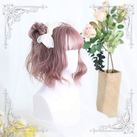Harajuku Joan Rose Grey Air Bangs Wig - juwas.com online store