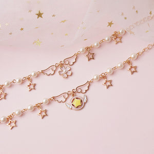 Sweet Star and Sakura Wings Bracelet