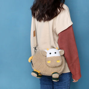 Plush Cow Soft Crossbody Bag