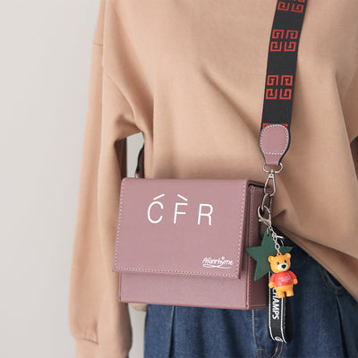 French Style Rectangle Crossbody Bag - juwas.com online store
