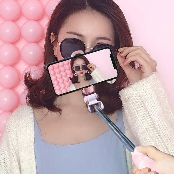 Kawaii Bluetooth Extendable Selfie Monopod Tripod