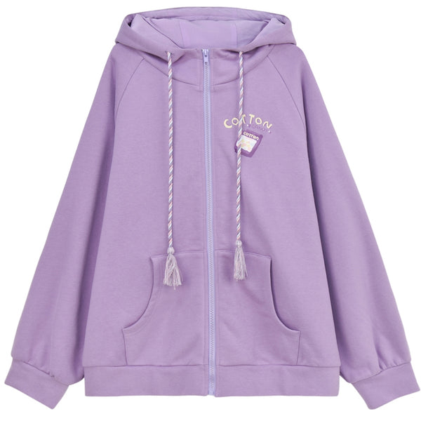 Candy Colors Hoodie Ears Coat