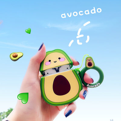 Kawaii Avocado Design Protective Case for Airpods 1 2 - juwas.com online store