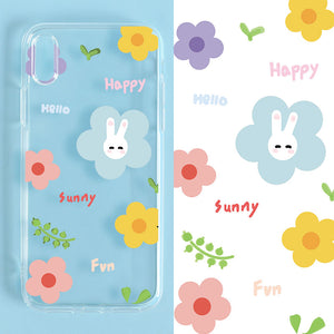 Kim Hyun A Flowers Rabbit iPhone Case