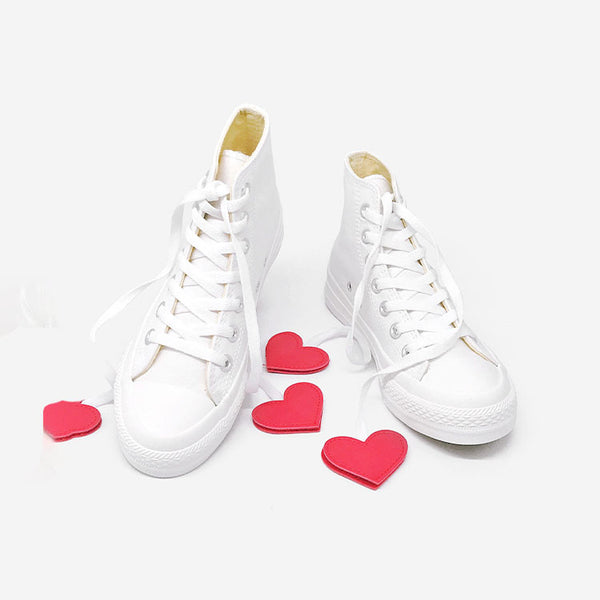 Black and Red Lovely Hearts Club Sneakers