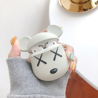 Cute Bear Design Protective Case for Airpods 1 2 - juwas.com online store