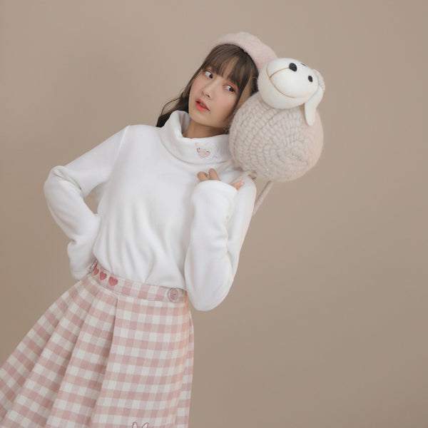 Lovely Sheep Wooly Turtleneck Top