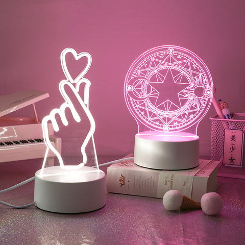 Kawaii Color-Changing LED Lamp