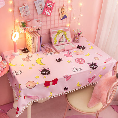 Kawaii Sailor Moon Cardcaptor Sakura Tablecloth - juwas.com online store
