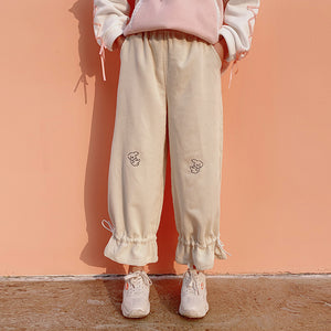 Lace up Elastic Waist Pants