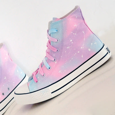 Kawaii Harajuku Pastel Galaxy Canvas High Tops Sneaker - juwas.com online store