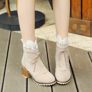 Lace Up Ankle Martin Boots