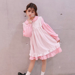 Kawaii Lolita Fashion Lace Edge Lotus Collor - juwas.com online store