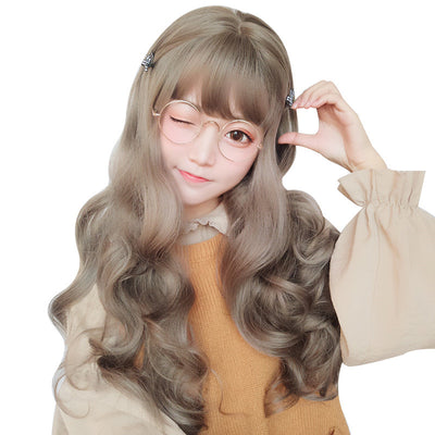 CUTE BIG WAVE LONG ROLL WIG - juwas.com online store