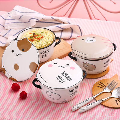 KAWAII PUSHEEN CAT PRINTED  BOWL - juwas.com online store