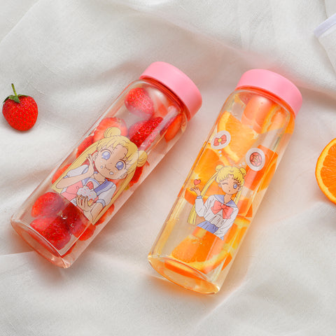 Kawaii Sailor Moon Glass Bottle - juwas.com online store