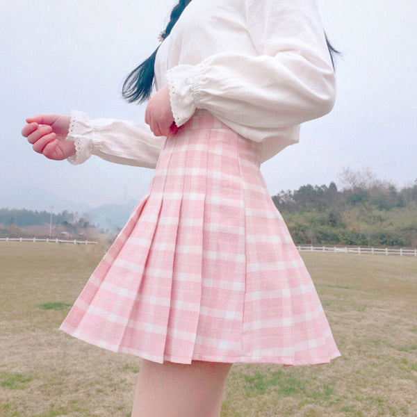Japanese High wait Pleated Skirt