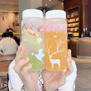 Cute Deer Swallows Drinking Bottle - juwas.com online store