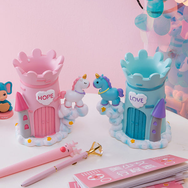 Cute Unicorn Castle Pen holder - juwas.com online store