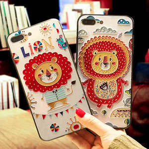 Kawaii Lion Iphone Case - juwas.com online store