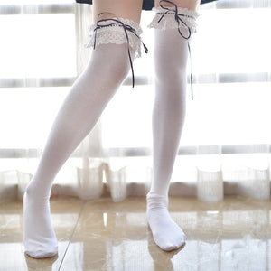Cartoon Lace Over Knee Sock - juwas.com online store