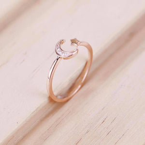 Mini Moon Star Ring