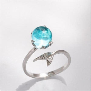 Blue Mermaid Ring