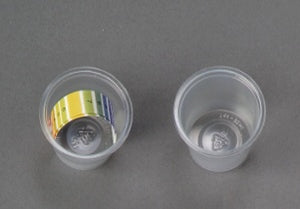 Sample Cup and pH Strips - One Cup and Two pH Strips in Sealed Plastic Pack