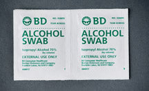 Individually Wrapped Alcohol Wipes