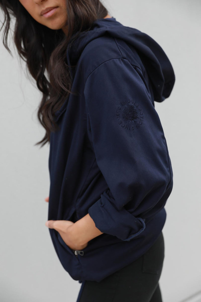 Classic Anorak Jacket in Ink Blue