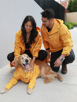 Classic Anorak Jacket in Tangerine Yellow