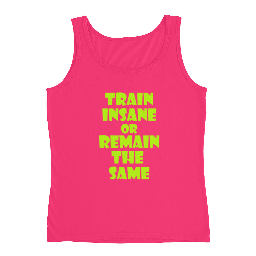0f0a9c2fc0702b ... Ladies Tank Top - Train Insane Or Remain The Same Ladies Tank Top -  Excel Human ...