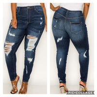 High Distressed Denim