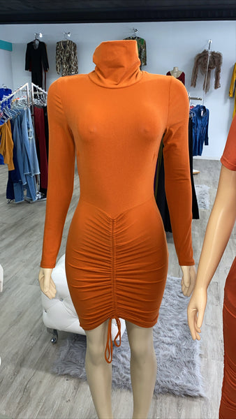 Spicy orange dress