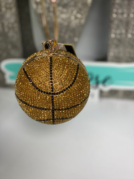 Rhinestone Basketball Clutch