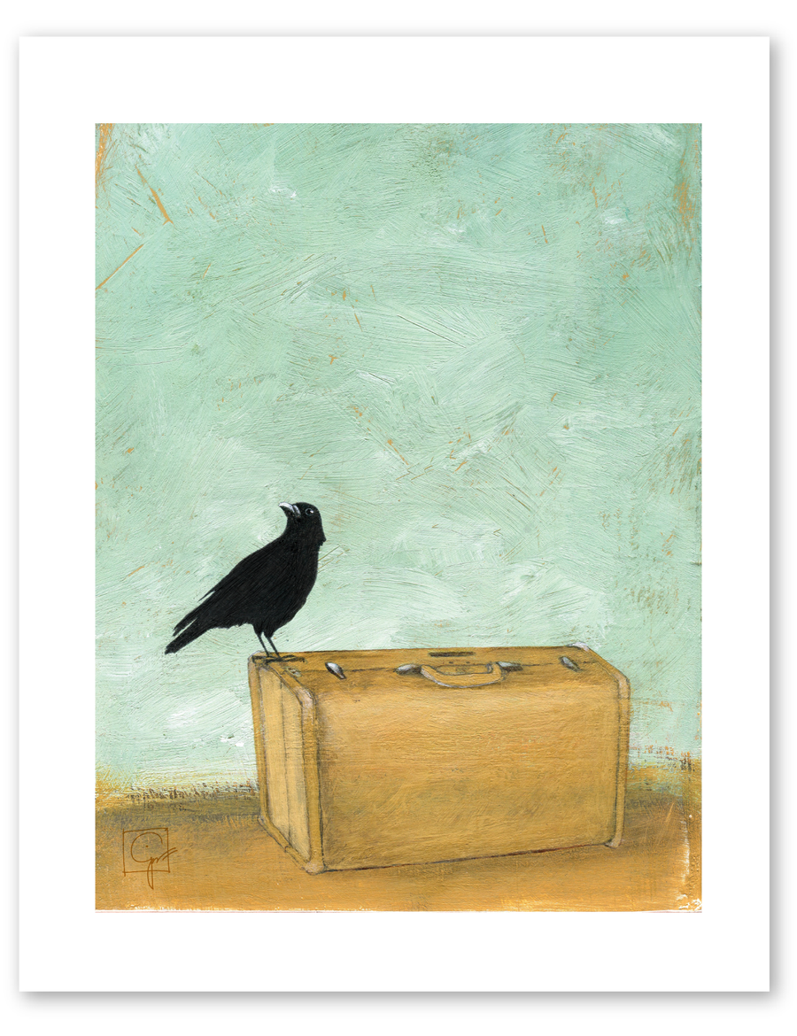 bird & brush: ready to go print