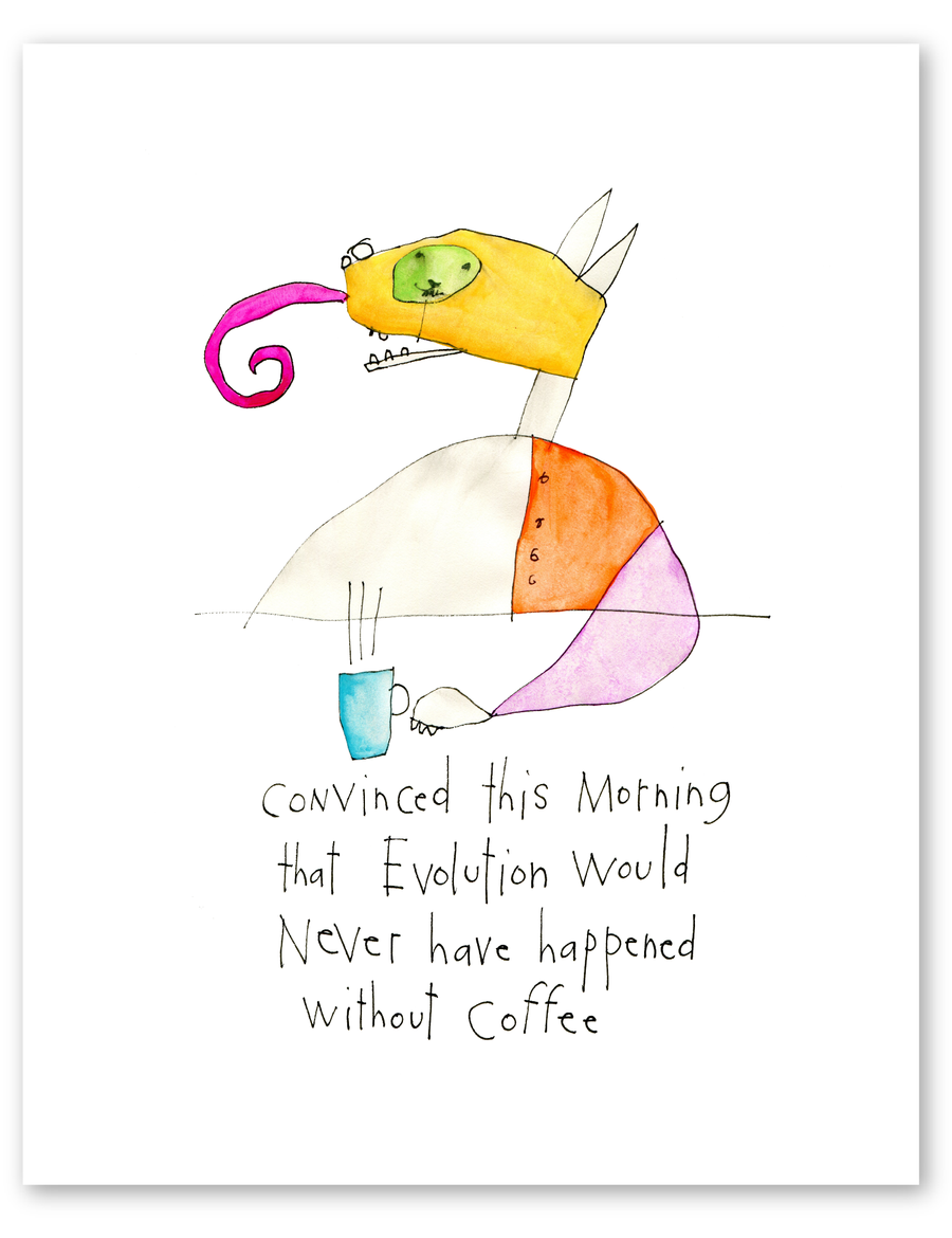coffee evolution print